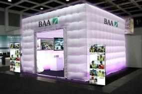BAA bespoke inflatable cube