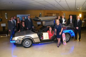 The BTTF Car Delorean Time Machine at IHG Awards Dinner in Athens Greece