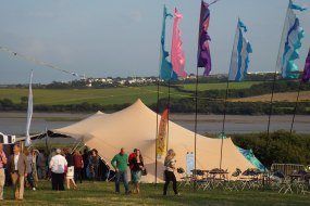 10 x 15m stretch tent at Rock Oyster festival in Cornwall