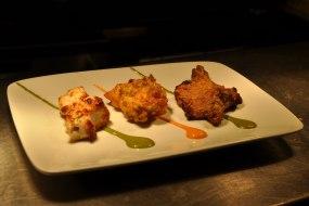 Chef's Starter Platter - chicken tikka, Amritsari fish, lamb chop
