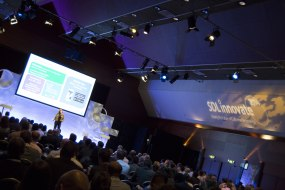 Corporate event in Amsterdam with technical solution supplied by Production AV.