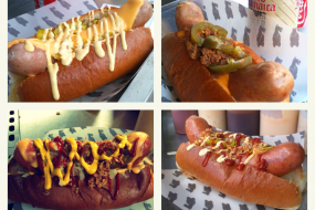 Selection of Fat Annie's Hot Dogs