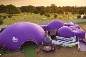 Cadbury's bespoke branded domes and tunnels