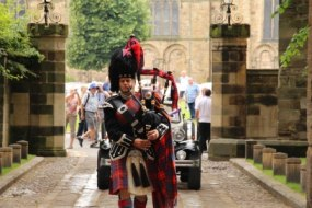 Wedding Piper at Durham Castle