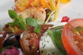 EpiCatering's Cajun Prawns, Tomato Mozzarella