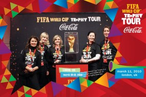 Staff at the Fifa trophy tour