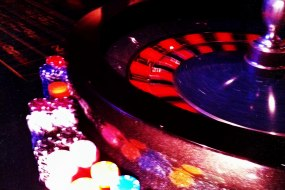 Roulette wheel poised for a spin