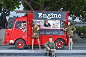 engine hotdogs hot dog food truck van street food catering