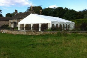 A beautiful setting for one of our spectacular marquees, the clear windows at the front offer a fantastic view over the beautiful Chatsworth Estate