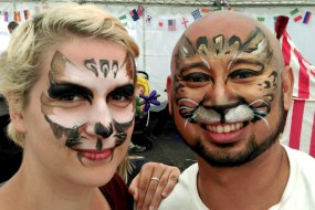 JuliaArts.co.uk Adult Cat Face Paint Near Sheffield