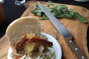 Pork, Bramley Apple Sauce, Sloppy Stuffing & Crackling