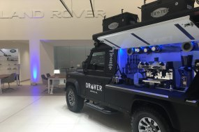 Land Rover coffee vehicle machine