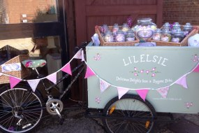 sweets, candy floss, bike, cart, elsies ices, wedding, party, berkhamsted, herts