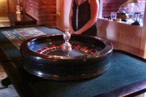 Full size roulette table and wheel for any occasion