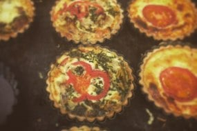 Our best sellers, quiche fresh out the oven