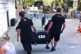 Pro Crews helping to set up at the Olympics in London