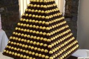Giant ferrero rocher pyramid