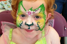 Pretty kitty face paint by sunny-faces berkshire