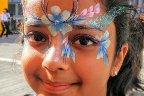 flowerband facepaint by sunny-faces reading