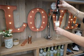 Prosecco van with bubbly on tap & fizz cocktails