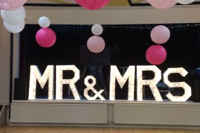 light up mr and mrs marquee letters