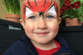 Superhero face paint