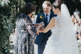 wedding; outdoor ceremony, hand-fasting