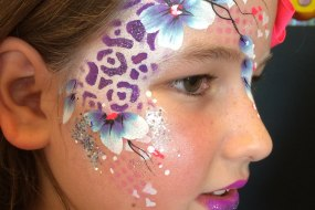 Festival flower eye design face paint