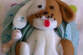 Dog style cupcake