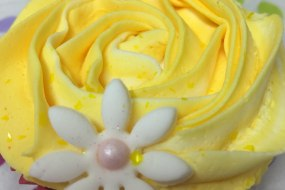 Spring time yellow rose cupcake