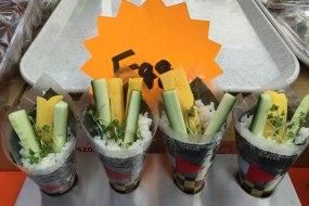 Egg Cucumber Temaki Hand Roll Sushi