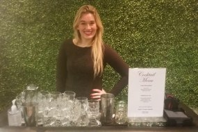 One of BlackLeaf Events cocktail hostesses at a fashion launch