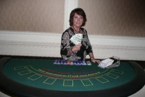 Full size blackjack tables for hire