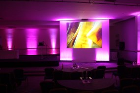 Large Screen and Surround Set with Stage and up lights