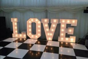 Giant Illuminated LOVE Letters