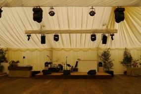 Wedding Stage, sound and lighting