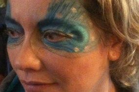 Peacock eye face paint