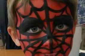 spiderman face painting
