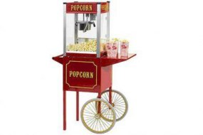 We have a Popcorn Cart that can be hired in conjunction with our Catering Services