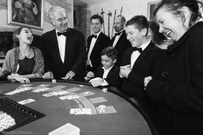 Blackjack fun at a family Christmas Party