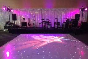 White Starlit Dance Floor, Draping, Lighting & Sound for a Wedding