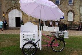 wedding ice cream bicycle hire
