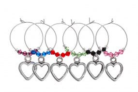 True Romance Wine Glass Charms by Sunshine & Daisies