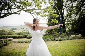 Wedding day archery