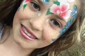 JuliaArts woodland flowers face painting