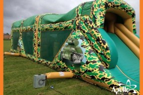 Army themed assault course for hire
