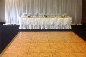 Twinkle light back drop curtain & matching head table