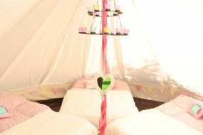 Sleepover party in a bell tent for hire Leeds
