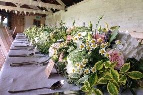 Barn Style Wedding Centrepiece