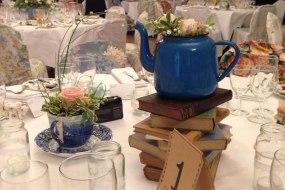 Tea Pot and Books Table Centre